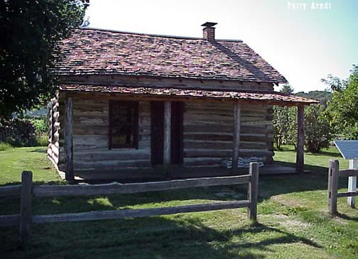 Dee Log Cabin from close up